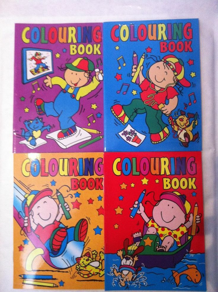 24 x Mini Colouring Books Kids Party Bag Filler Toy