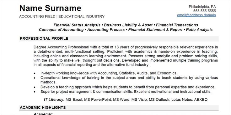 Executive Resume Sample 1st Sample @InADocument InADocument