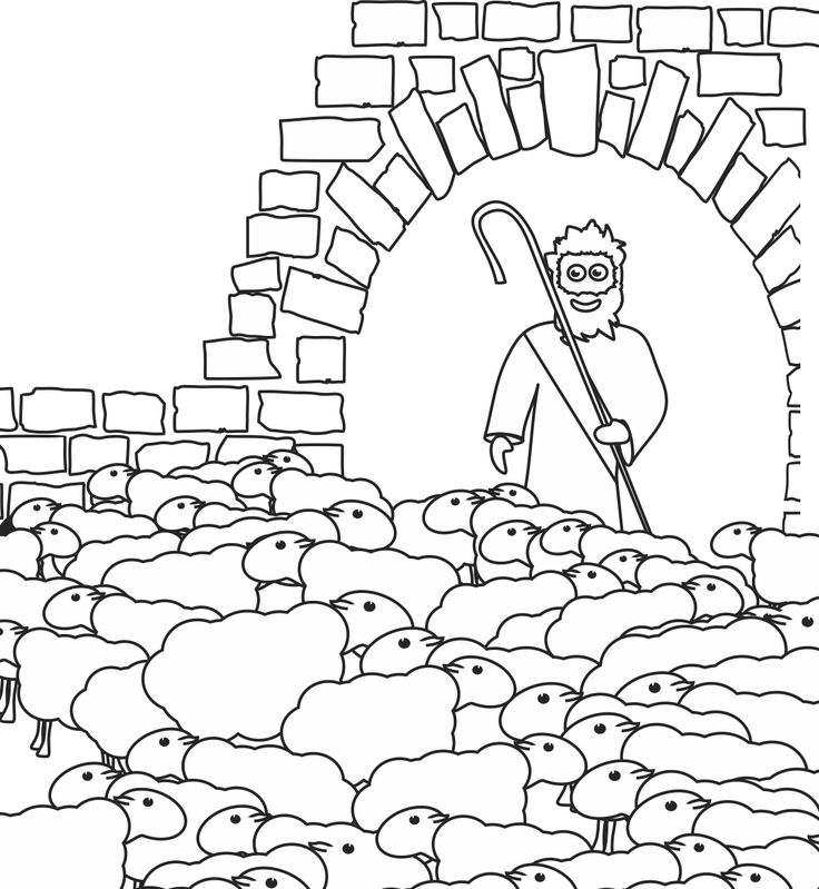 jesus the sheperd coloring pages | 55 best images about Our Bible Coloring Pages on Pinterest ...