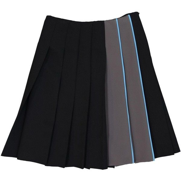 Pre-owned Prada Mid-Length Skirt ($657) ❤ liked on Polyvore featuring skirts, black, women clothing skirts, prada skirt, mid length skirts and prada