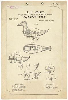 A.W. Hart Aquatic Toy - Vintage Clip Art from the Graphics Fairy