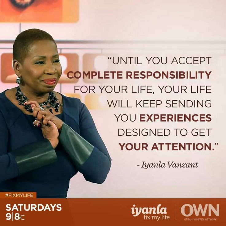 So true... I am responsible for me