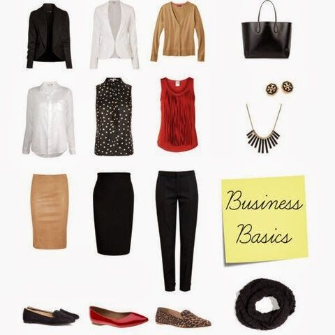 Business attire 101 in 16 pieces (and 10 outfit combos!)