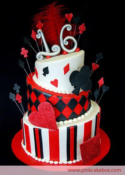 Casino Themed Sweet 16 Cake | http://www.pinkcakebox.com/casino-themed-sweet-16-cake/