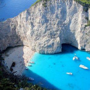 holiday in Zante Zakynthos: shipwreck bay. Little Button Diaries