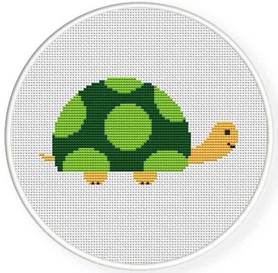 Turtle cross stitch pattern INSTANT DOWNLOADFree shippingCross stitch pattern by danceneedle, $5.00
