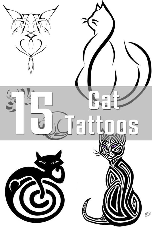 Line Drawing Cat Tattoo : Cat tattoo designs
