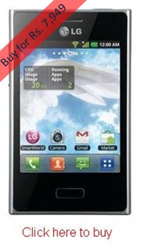 LG Optimus L3 E400 costs you less than Rs. 8,000 and gets delivered to you free of charges. You have various options to pay for the phone. You can use internet banking account to pay for the phone or you can use credit card and debit card to pay for the phone. You can also opt for cash on delivery option where you can pay for the phone after it gets delivered to your doorsteps.