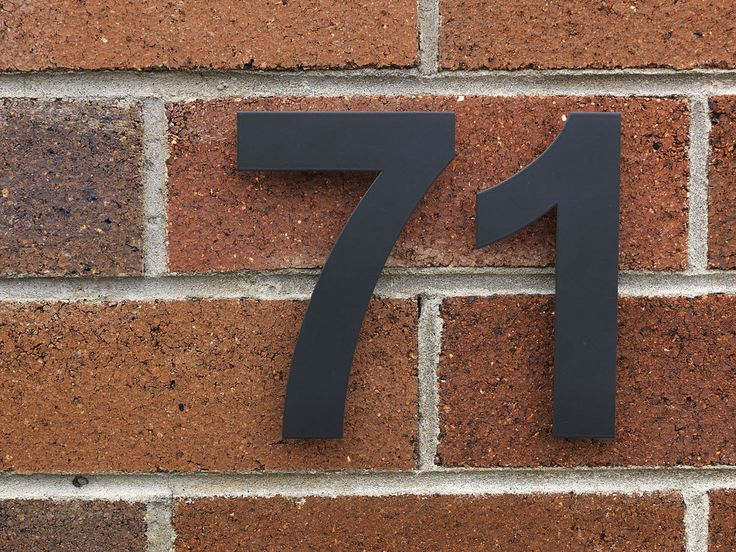 Powder Coated house numbers by Robert Plumb