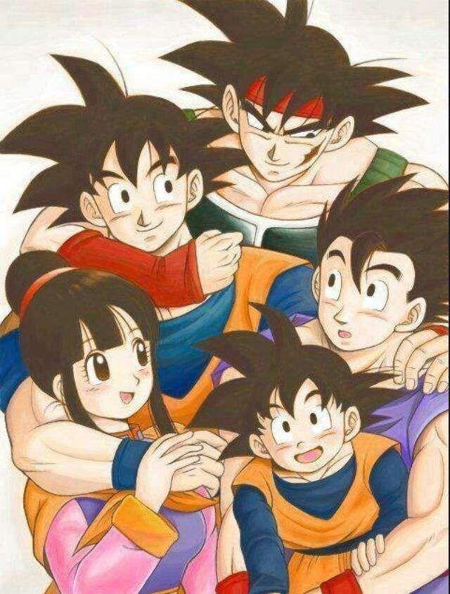 Resultado de imagen de dragon ball z familia de goku