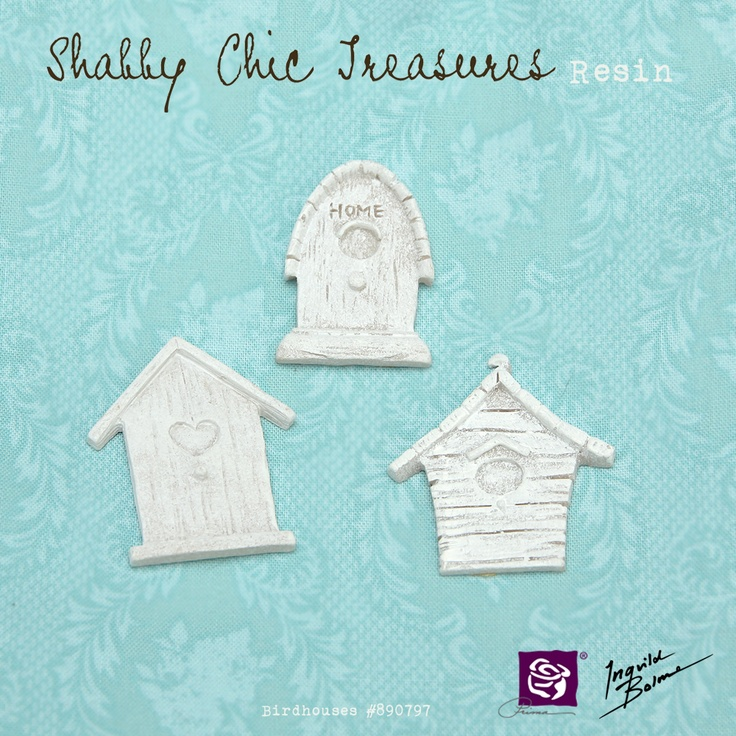 Shabby Chic Resin Treasures - Birdhouses