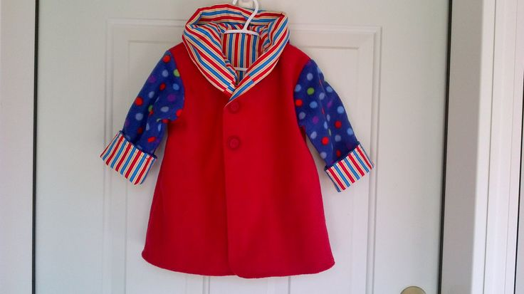 Child's Red Car Coat 18 Months C37/15 by zoya49 on Etsy