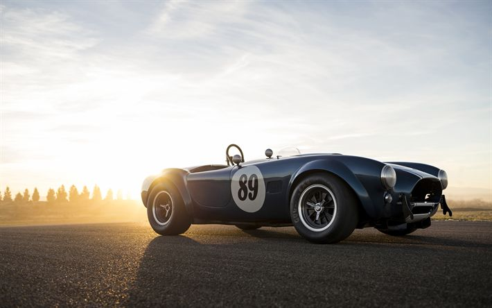 Download wallpapers Shelby Cobra 289, 4k, retro cars, 1964 cars, roadster, Shelby Cobra