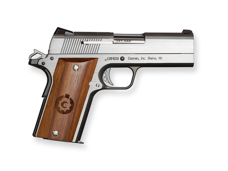 Features .357 Magnum Will not cycle .38 special Linkless Barrel Recoil Operated Pivoting Trigger Extended Slide Catch and Thumb Lock for One-Hand Operation Includes 4 Inch Bull Barrel Fixed White Dot or Night Sights (By SKU) Smooth or
