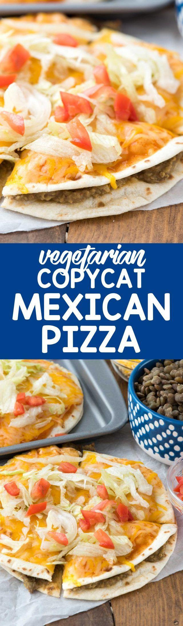 ¡Copycat Mexican Pizza, como en el restaurante de comida rápida, pero es más saludable y vegetariano y puedes hacerlo en casa!