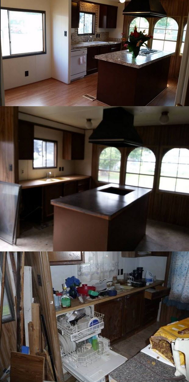 The 70 000 Dream Kitchen Makeover: Mobile Homes, Mobile Home Makeovers And Mobiles On Pinterest
