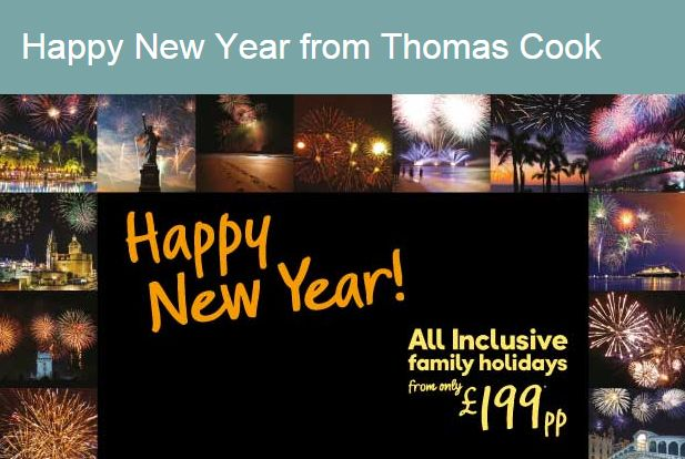New Year Banner from Thomas Cook #Web #Banner #Digital #Online #Marketing #Travel #NewYear