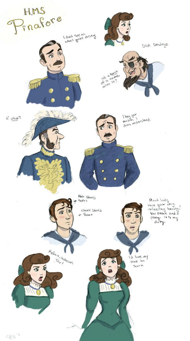HMS Pinafore sketches by *chill13