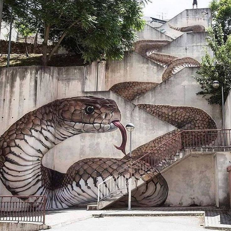 Awesome street art in Guarda, Portugal