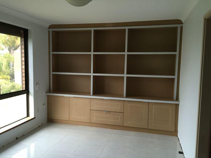 MDF shelf cabinet / book shelf ready to paint.