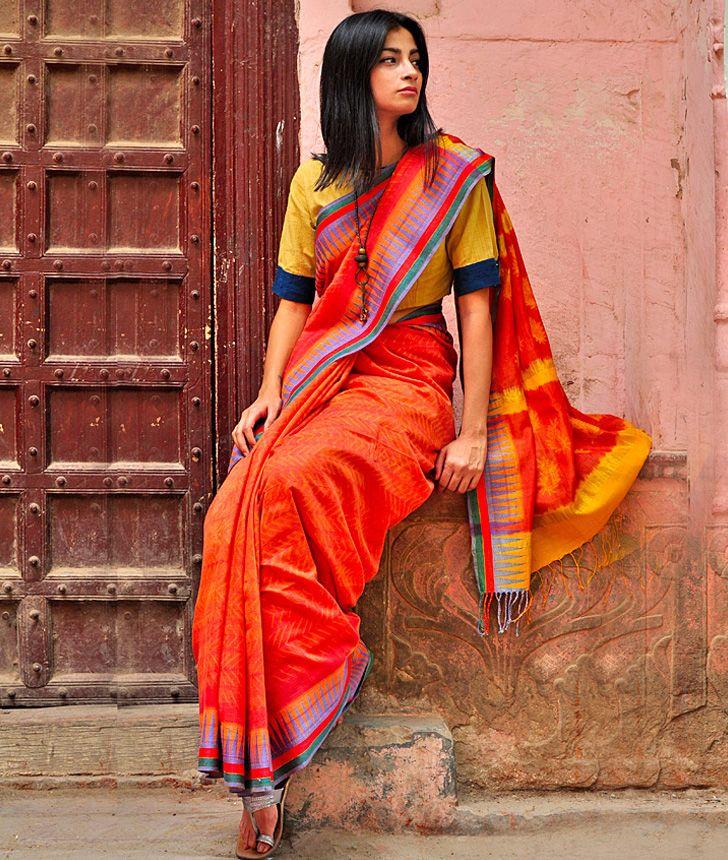 handcrafted shibori saree