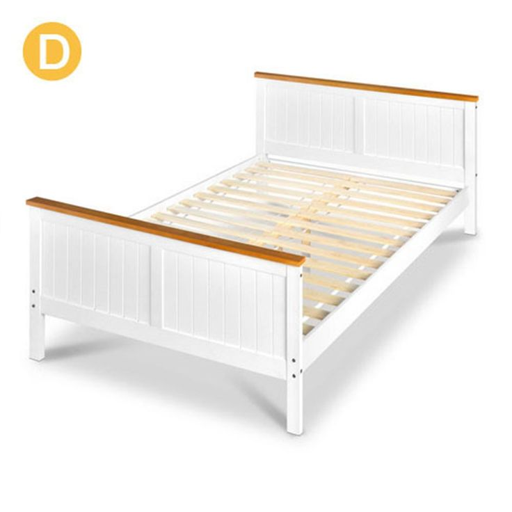 BELMORE Double Bed Frame - Pine Wood w/ Timber Slats