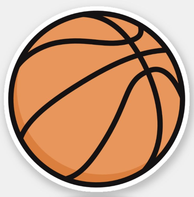 Basketball-Aufkleber | Zazzle   – Stickers