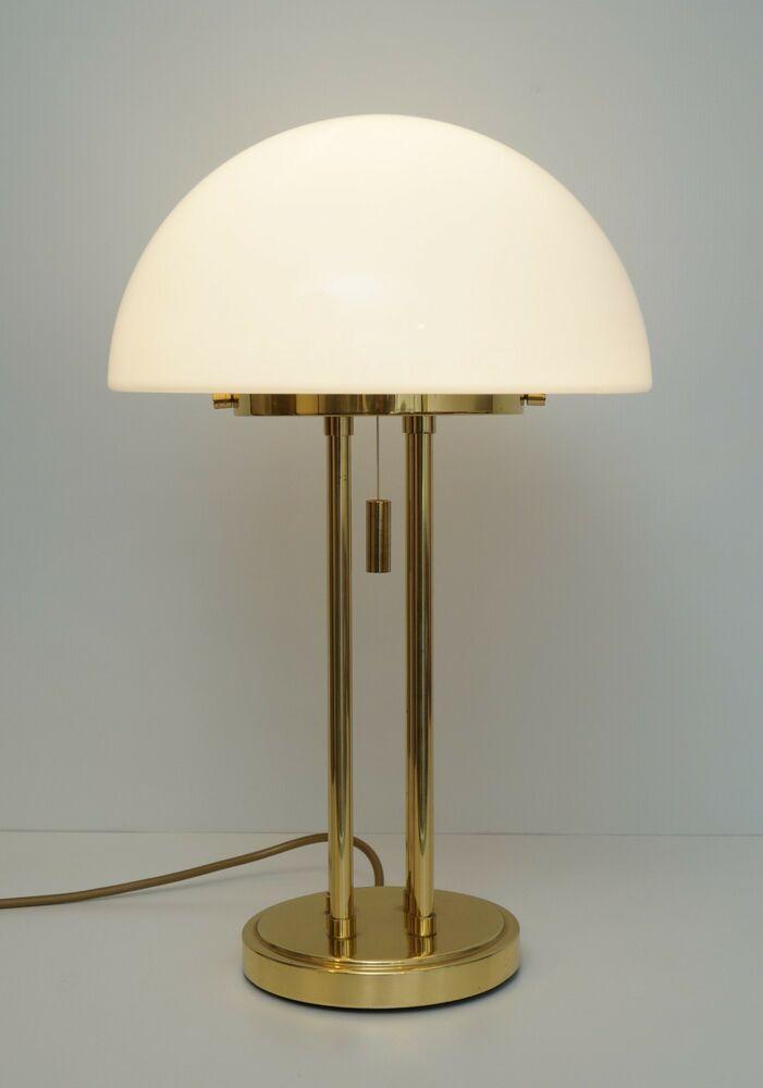 Tischlampe Stehlampe Art Deco Schreibtischlampe Lampe Glas Messing
