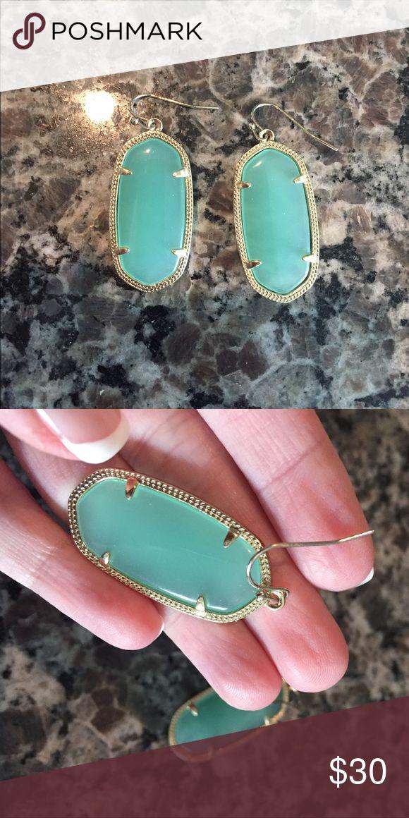 KENDRA SCOTT ELLE EARRINGS MINT Mint color. Earring backs not included. Kendra Scott Jewelry Earrings
