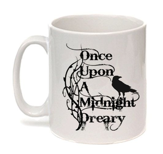 Edgar Allan Poe Mug The Raven Once upon a midnight by missbohemia