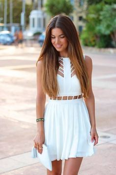 little white dress with cutouts