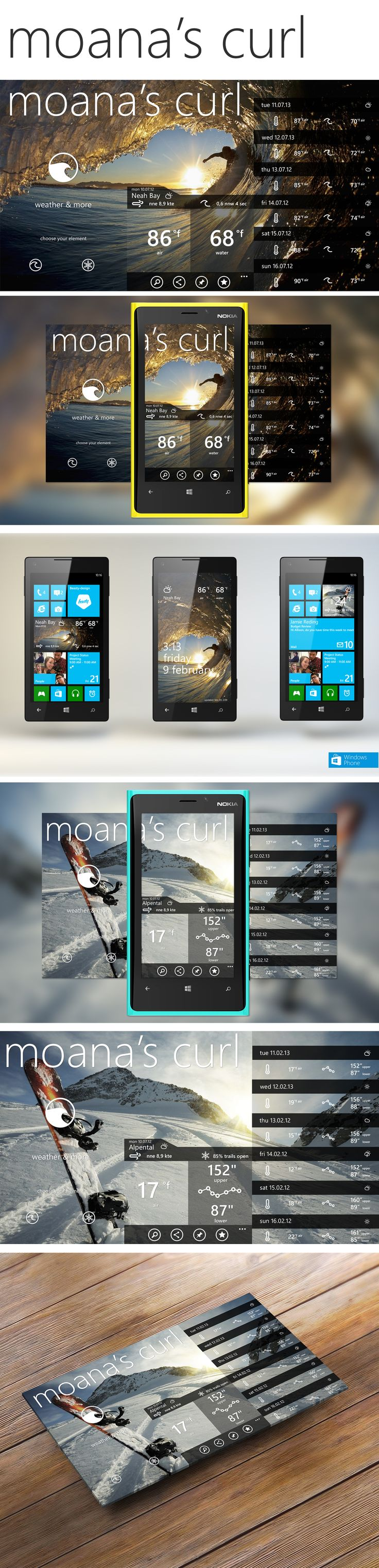 moana's curl - app for weather contest | windows phone 8