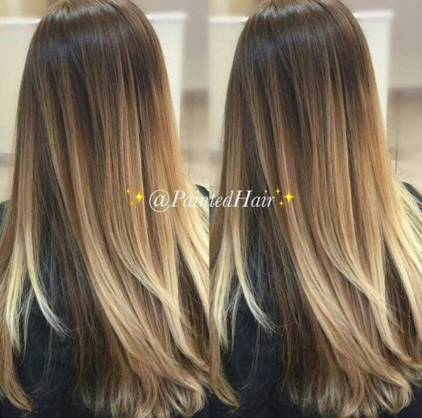balayage, blonde, goals, hair, long hair, ombre, First Set on Favim.com