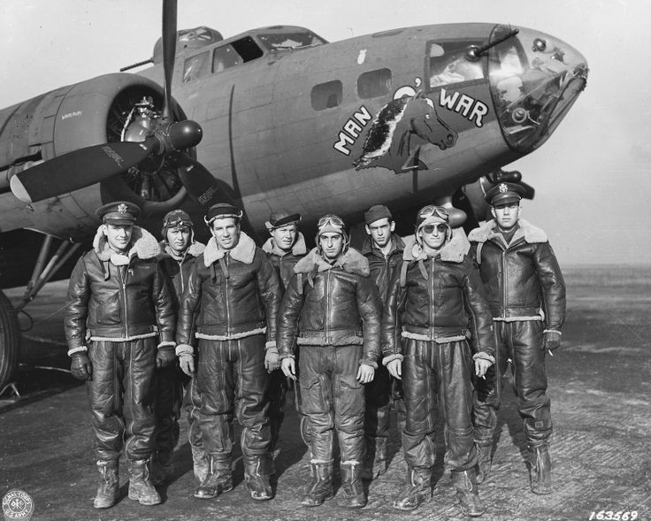 B-17 and Crew.                                                                                                                                                                                 More