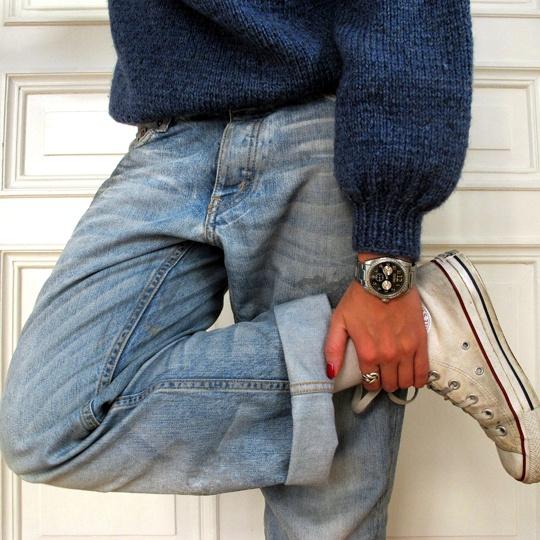 Jeans H// Knit vintage// Sneakers Converse: Comfy Jeans, Converse Fashion, Vintage Styles, Dream Closet, Sneakers Converse, Knits Vintage, Hobo Happy, Tailored Sailors, Jeans Styles