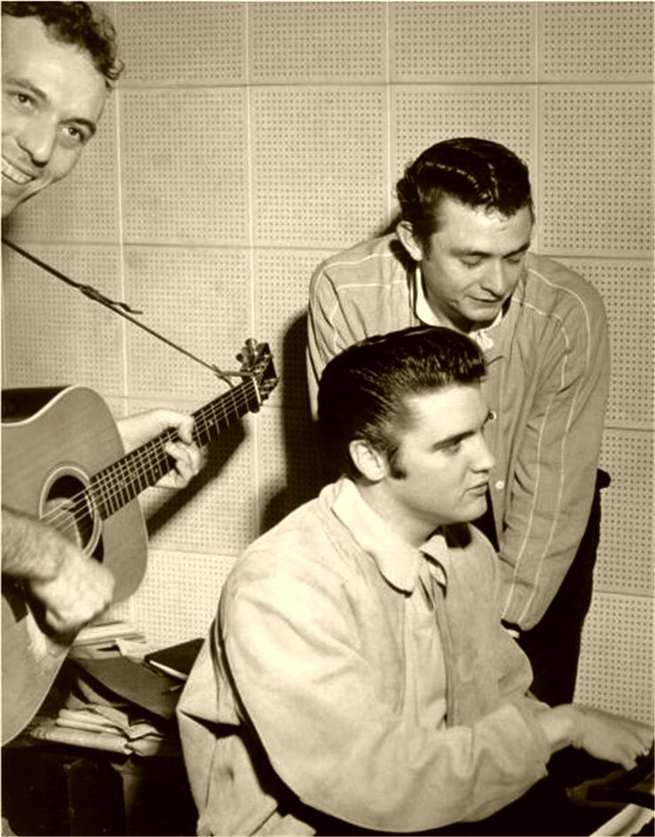 Dec 4, 1956 - Elvis, Johnny Cash and Carl Perkins at Sun Records