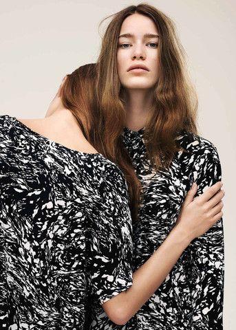 Storm & Marie Kjole mønstret 10020 Brit Dress black & white print – acorns