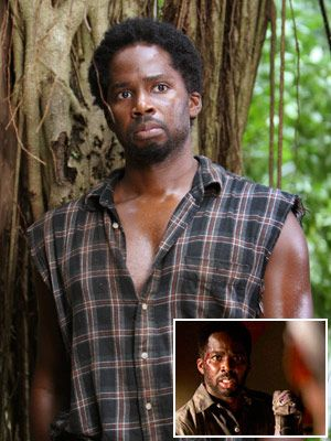 Lost, Harold Perrineau | MICHAEL DAWSON (HAROLD PERRINEAU) When: Season 4, episode 13, ''There's No Place Like Home: Part 2'' How: Although he recklessly killed Ana Lucia and Libby…
