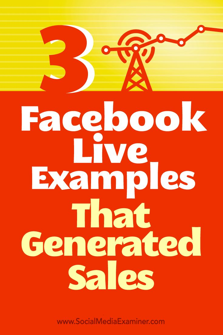Looking for ways to use Facebook Live for business?  Facebook Live broadcasts can help you expand your current audience and get new clients and customers.  In this article, you'll discover how three companies used Facebook Live to generate sales and how to adapt their tactics for your own business. Via @smexaminer.