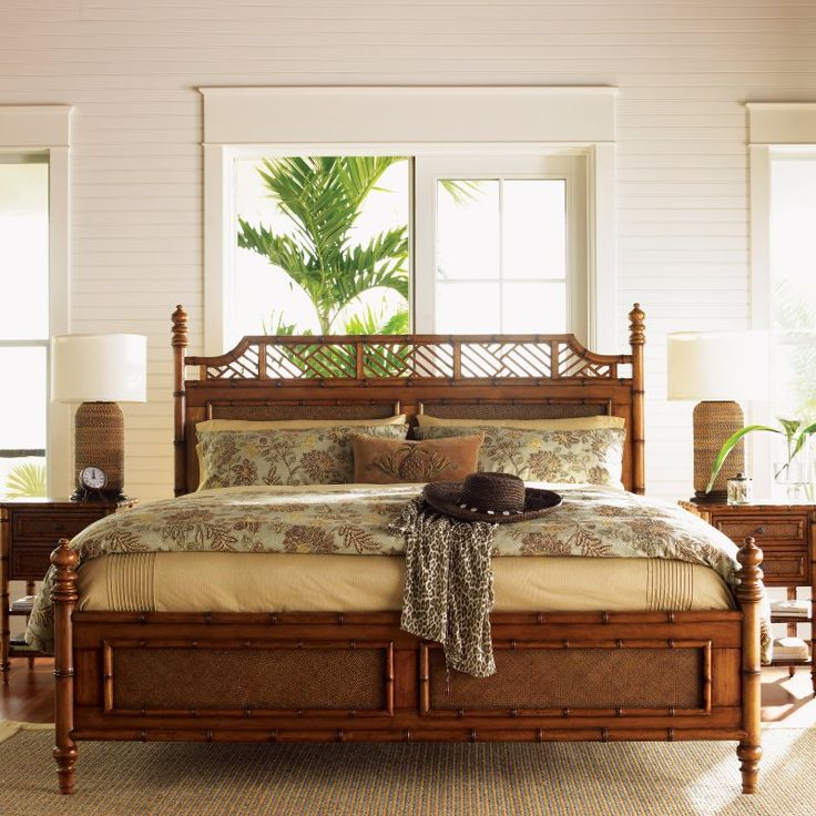 Tommy Bahama Island Estate West Indies Poster Bed, Size: California King - LEX577-3
