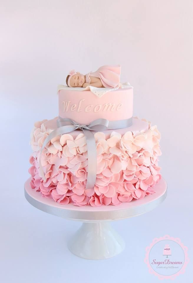 girl baby shower cakes baby girl cakes christening cakes for girl