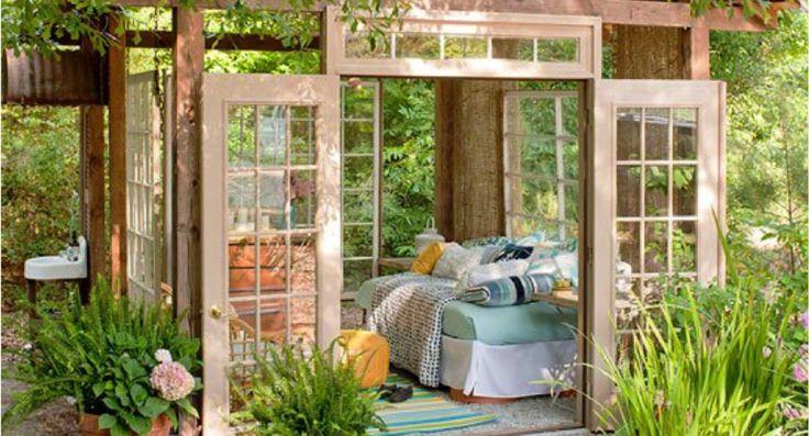 Met zo'n schuurtje in de achtertuin kun je je echte huis meteen verhuren