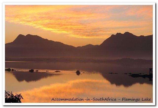 Accommodation at Flamingo Lake. http://www.accommodation-in-southafrica.co.za/WesternCape/Hermanus/FlamingoLakeSelfCateringCottages.aspx