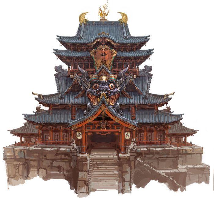 《天谕》的一些概念设计-陆大卫__涂鸦王国插画