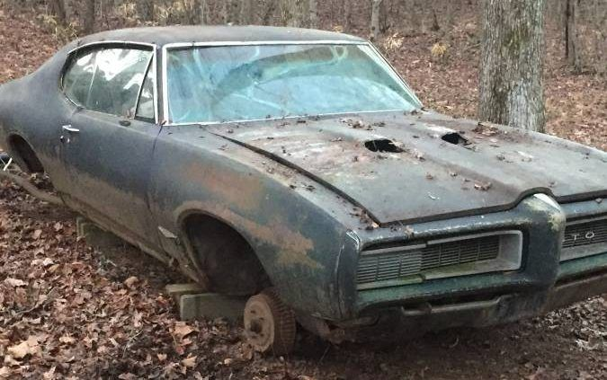 Forest Find! 1968 Pontiac GTO Project #BarnFinds #GTO, #Pontiac - https://barnfinds.com/forest-find-1968-pontiac-gto-project/