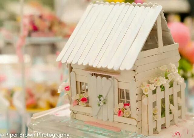 Popsicle Stick House Cottage