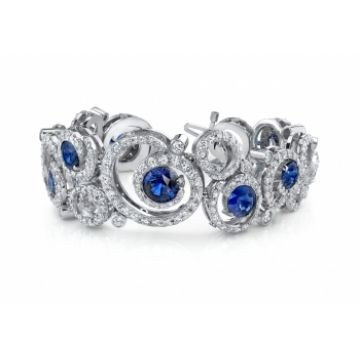 #Terrific #Tuesday with #Capri #Jewelers #Arizona ~ www.caprijewelersaz.com ♥ SAPPHIRE & DIAMOND BRACELET
