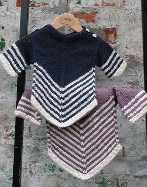 Vandfald sweater til børn strikkekit