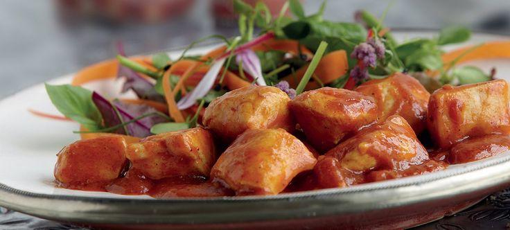 Kylling Vindaloo med smak av ingefær, chili og garam masala