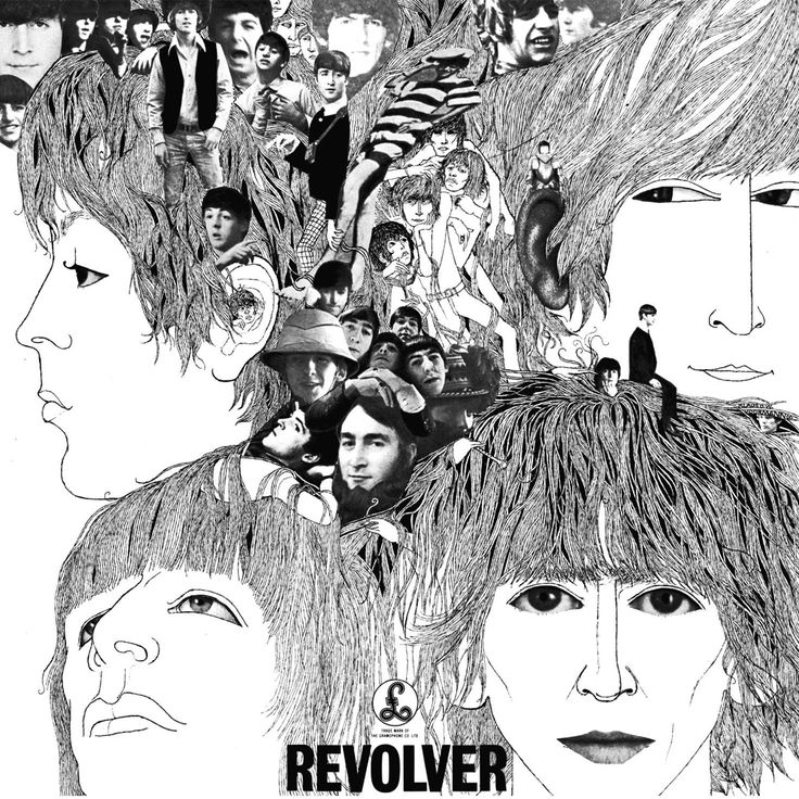 """The Beatles """"Revolver"""" 1966 Album cover by Klaus Voormann, I've been lucky enough to have met Klaus a couple of times and have 2 of his signed prints on my dining room wall"""